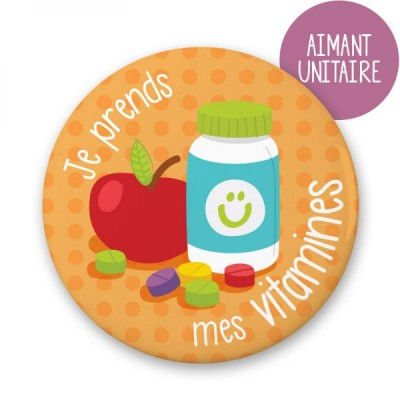 Aimant individuel - Je prends mes vitamines