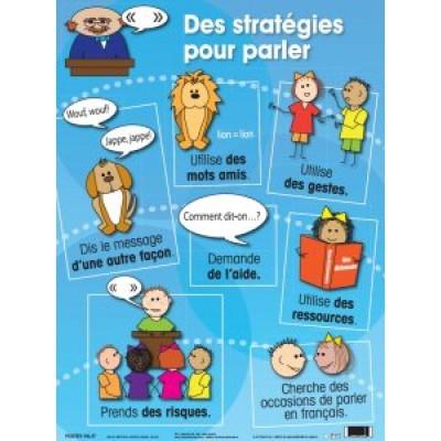 Affiche : Des stratégies pour parler