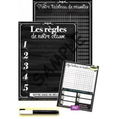 Ensemble d'affiches : Les règles de notre classe