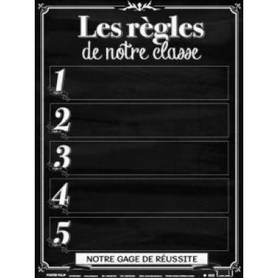 Affiche: Les règles de notre classe