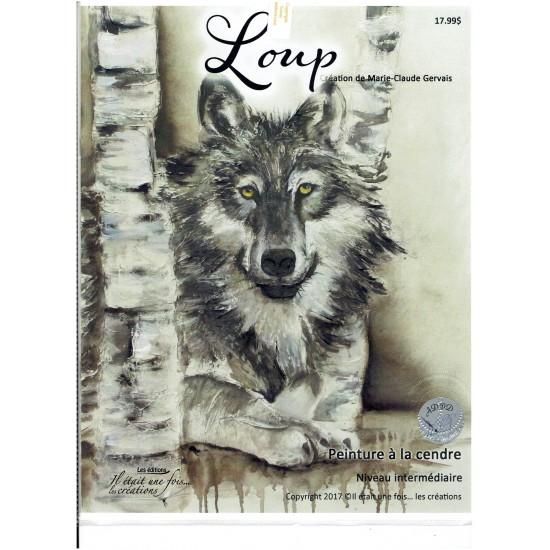 Patron à cendre: Loup (Marie-Claude Gervais)