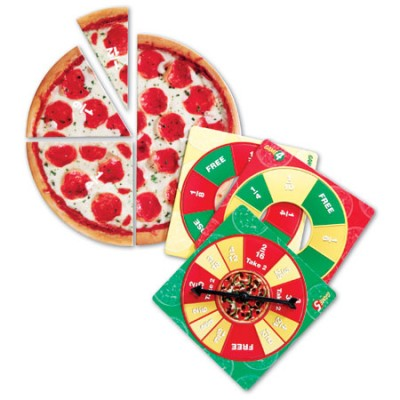 Jeu de fraction junior: pizza
