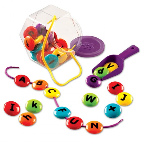Ensemble alphabet à enfiler
