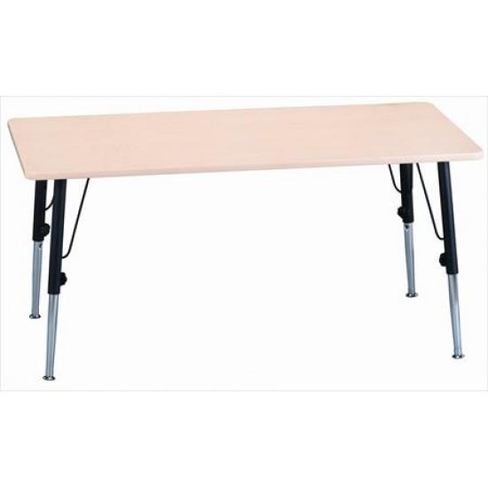 "TABLE RECTANGLE BLEU AJUSTABLE. 30"" x 60""/8 ENFANTS"