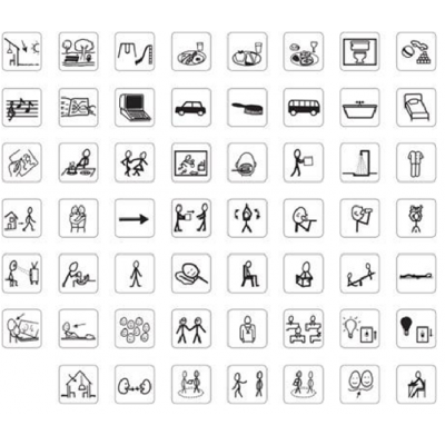 Mini pictogrammes autocollants/ 55